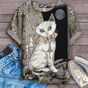 Cat Designed Art T-Shirt 2