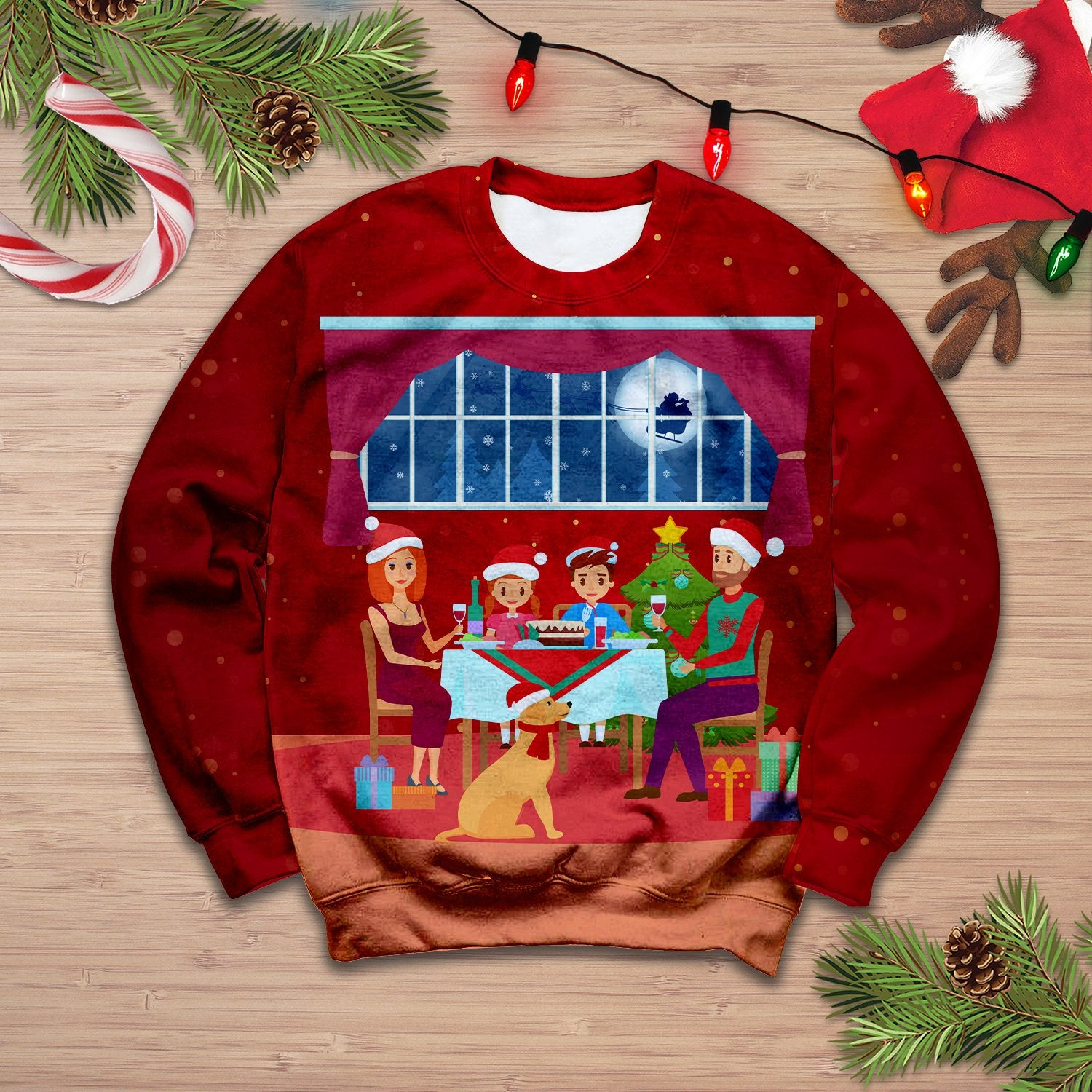 Family Christmas Sweatshirt 3D 03