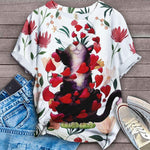 Cat Floral Love You T-Shirt 9