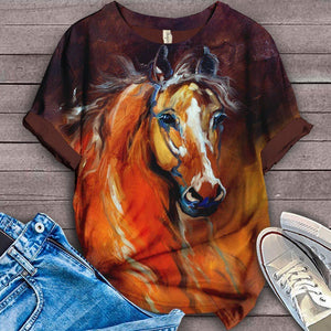 Horse Lovers Gorgeous Art T-Shirt 13