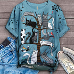 Cat Tree Vintage T-Shirt