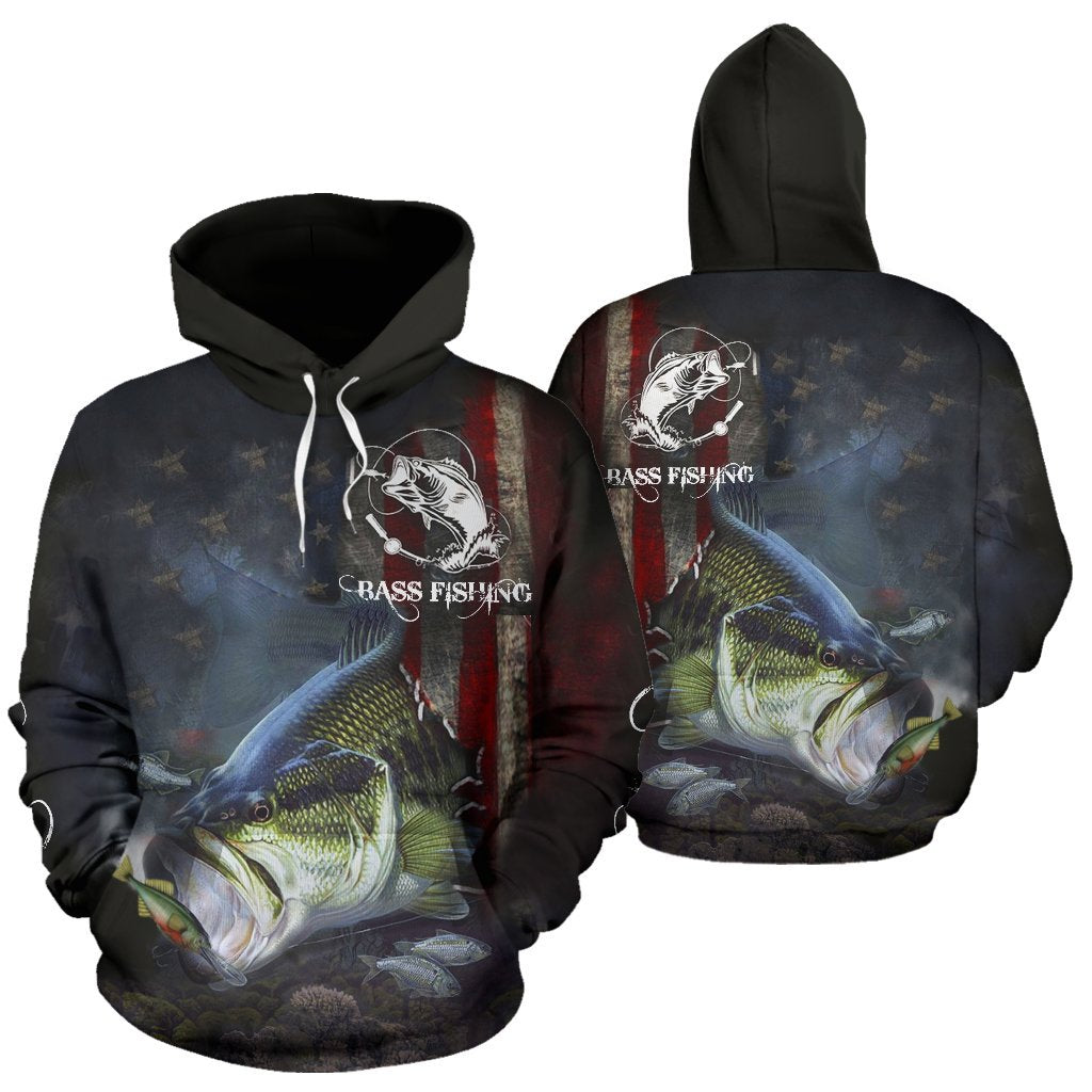 3D FISHING HOODIE BASS FISHING