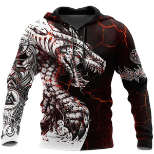 Black & White Tattoo Dragon Hoodie For Men and Women HAC190503