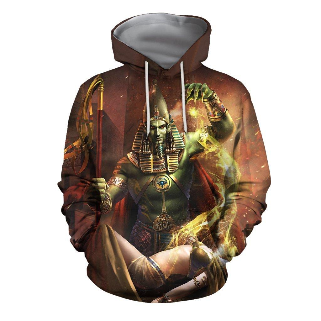 3D All Over Ptah Egyptian God Hoodie