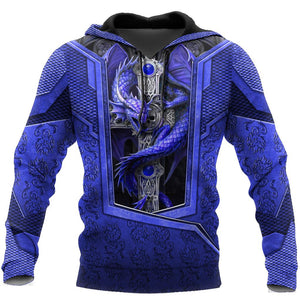 3D Tattoo and Dungeon Dragon Hoodie HAC301202
