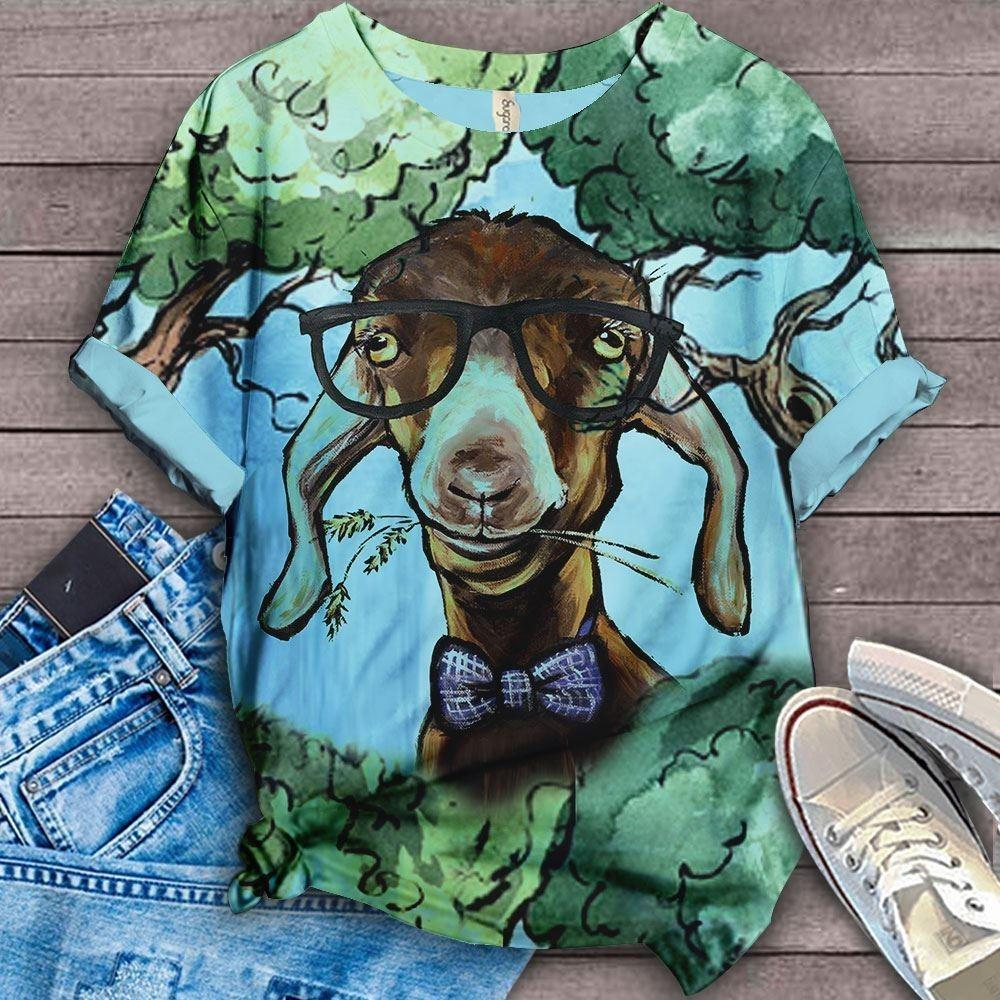 Happy Farm Floral Art T-shirt 2
