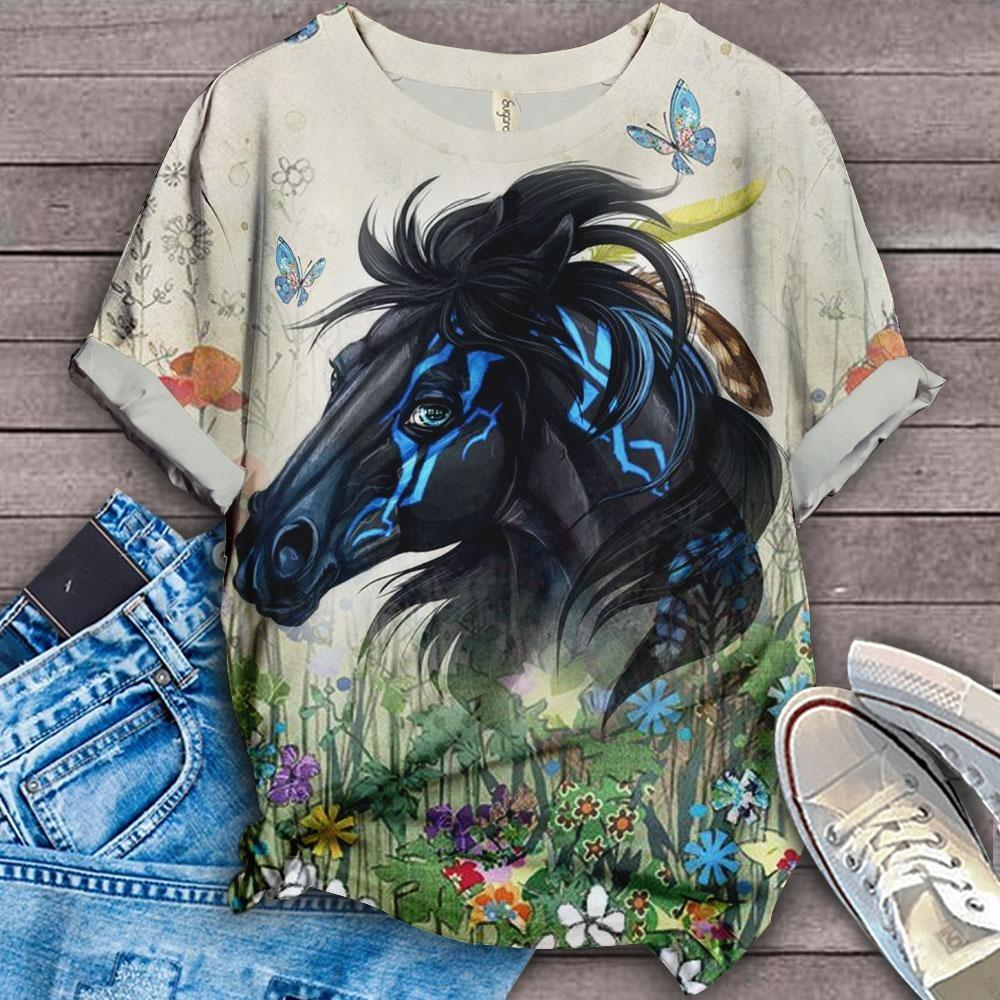 Horse Lovers Gorgeous Art T-Shirt H8