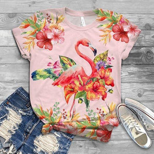 FLAMINGO ALL OVER PRINT T-SHIRT 9