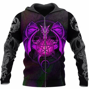 3D Tattoo and Dungeon Dragon Zip Hoodie NM050969
