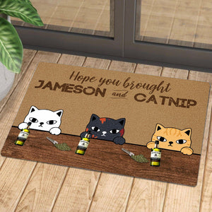Welcome to Wine and Cats Club Doormat 3