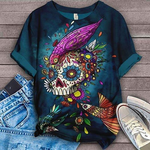Perfect Gift For Skulls Lovers All-Over T-Shirt