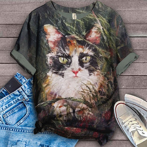 Cat Urban Love You T-Shirt 49