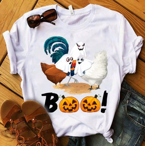 Chicken In Halloween T-shirt