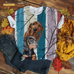Couple Dachshund T-shirt Vintage
