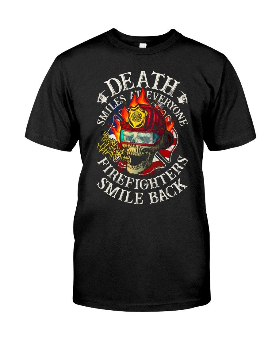 Death smiles at everyone firefighter smile back