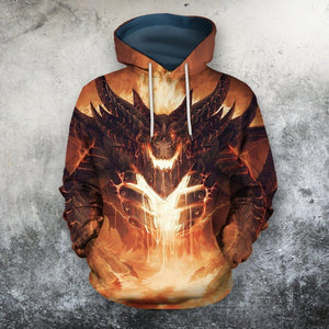 3D All Over Print Dragon Hoodie NM130817