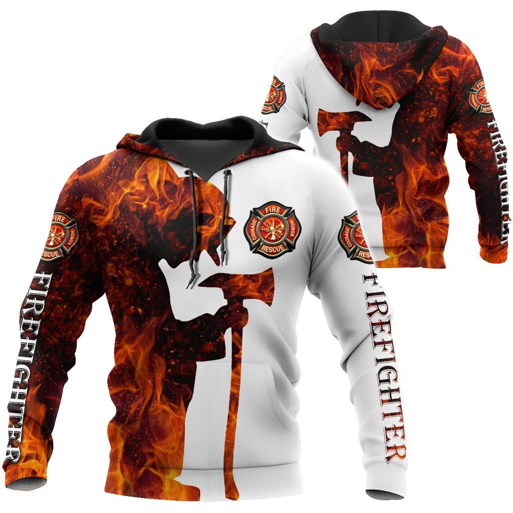 Respectful Firefighter 3D Printed Hoodie For Men And Women TQH