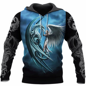 3D Tattoo and Dungeon Dragon Hoodie NM050970