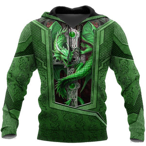 3D Tattoo and Dungeon Dragon Hoodie HAC27124