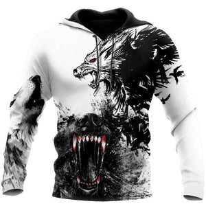 Wolf Bleed For You 3D Over Printed Hoodie for Men and Women