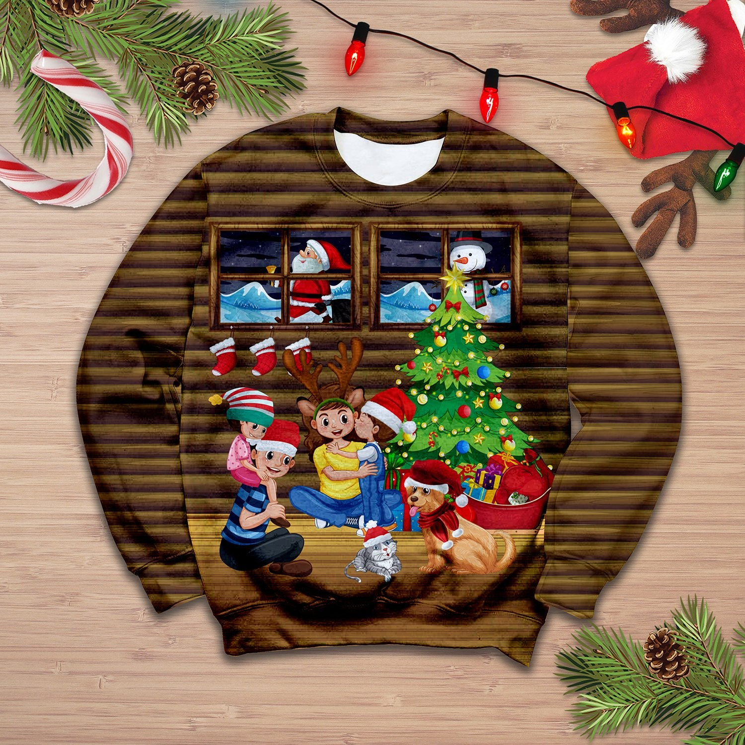 Family Christmas Sweatshirt 3D 01