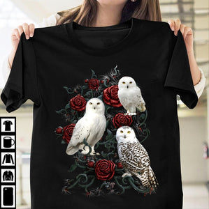 Owl Flower T-Shirt 4