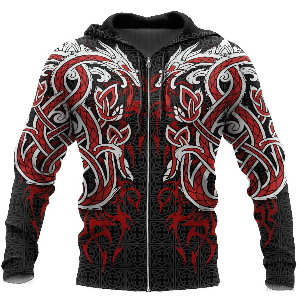 Dragon Tattoo Art Zip Hoodie T Shirt For Men and Women HAC060603