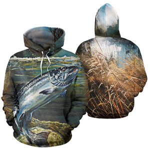 3D FISHING HOODIE RIVER SALMON FULL SIZE