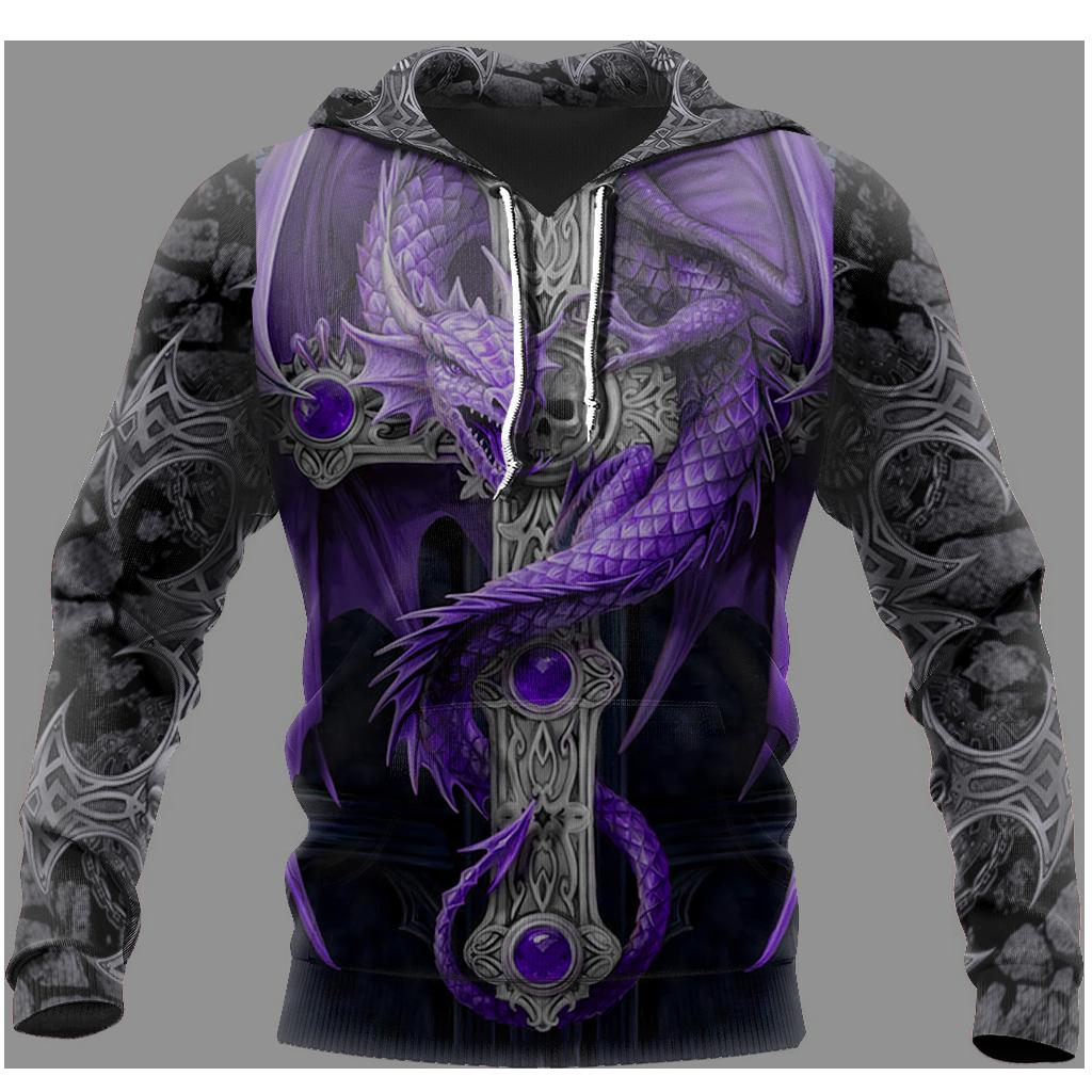 3D Tattoo and Dungeon Dragon Hoodie T Shirt For Men and Women NM050923
