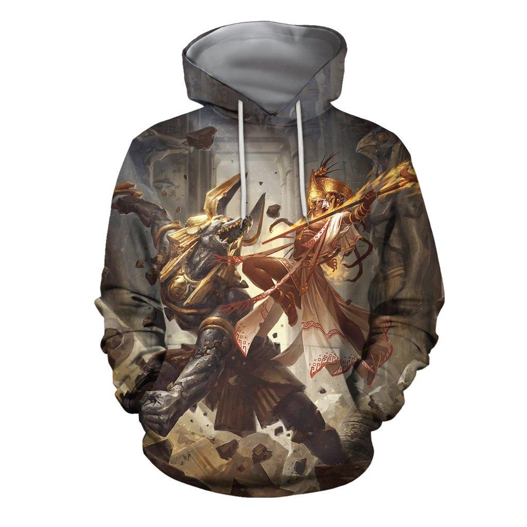 3D All Over Print Egyptian fantasy Hoodie