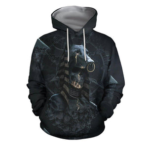 3D All Over Print Anubis and Bastet Legendary Lovers Hoodie