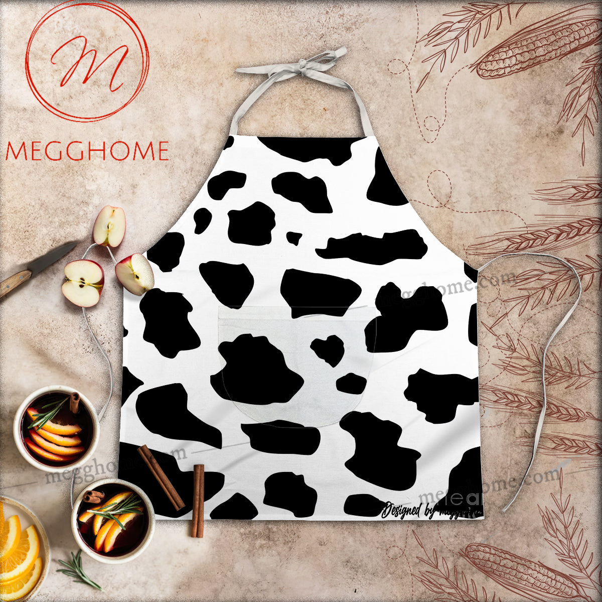 Cow Funny Pocket Apron 03