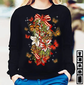 Christmas Butterfly Sweatshirt
