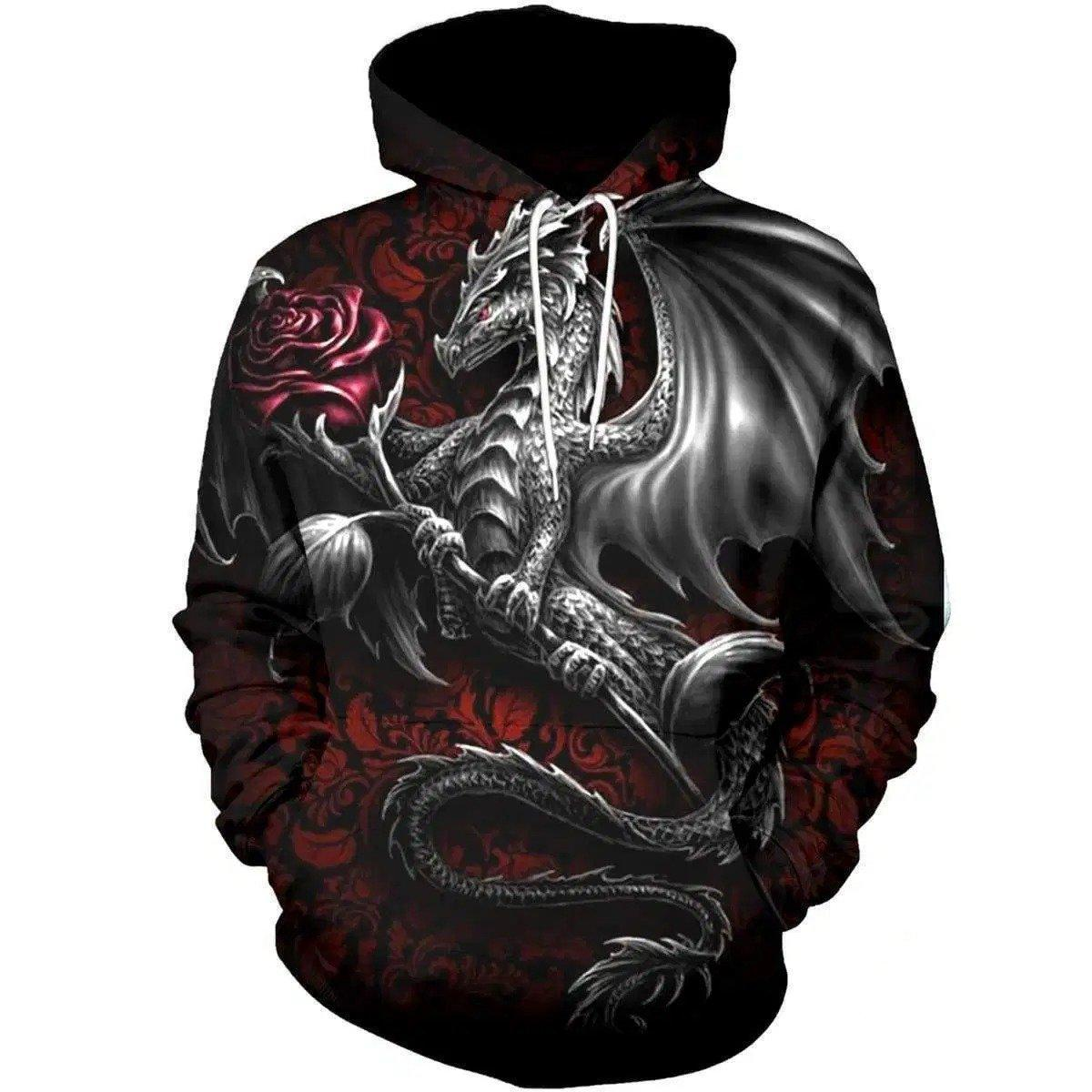 3D All Over Print Dragon Hoodie NM050909