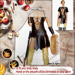 Viking Funny Costume Pocket Apron MG08