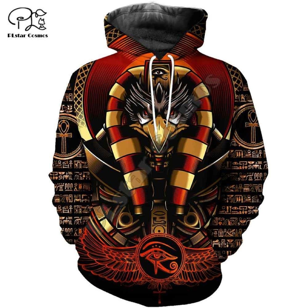 Ancient Egypt Gods of Egypt Black Red Pullover Special Gift 3D Unisex Hoodie 43
