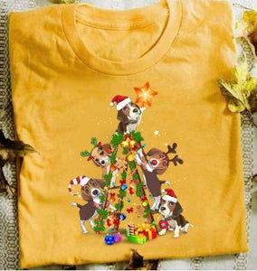 Beagle Christmas Tree T-shirt