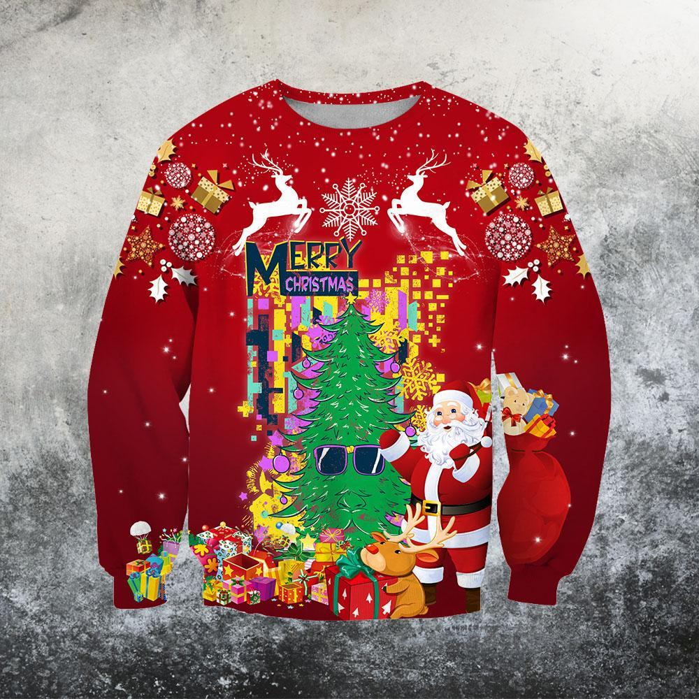Beautiful 3D Over Printed Christmas Sweat shirt HG-JJ12101