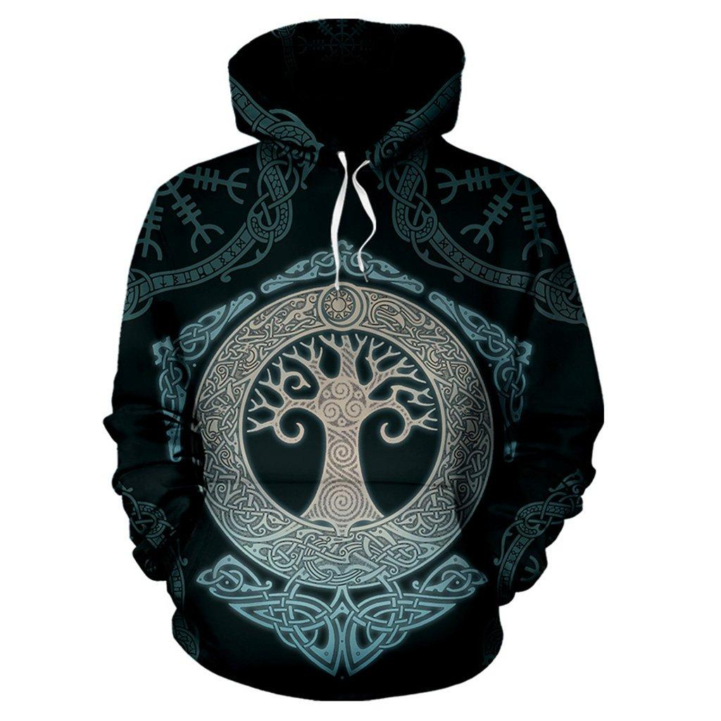 3D Viking Tree of Life Unisex Hoodie 003