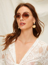 Load image into Gallery viewer, Oval Lens Rimless Sunglasses-An Eternal Summer