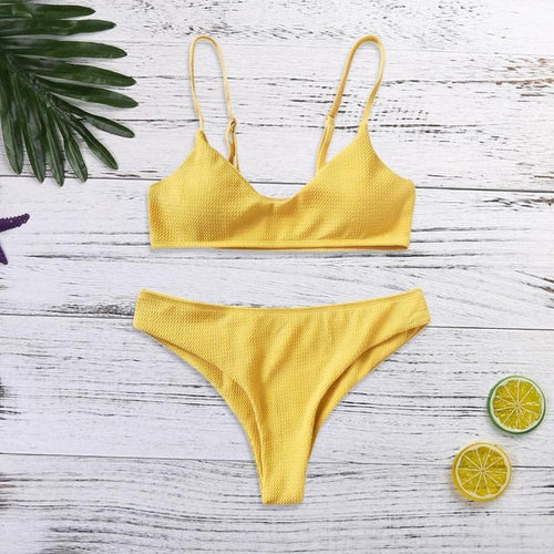 Textured Push Up Bikini Set-An Eternal Summer