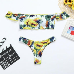 Sunflower Thong Bikini Set-An Eternal Summer