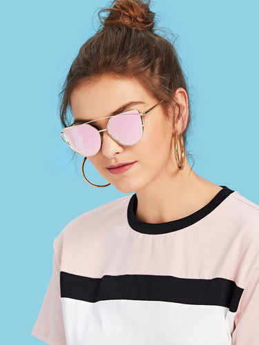 Cat Eye Metal Frame Sunglasses-An Eternal Summer