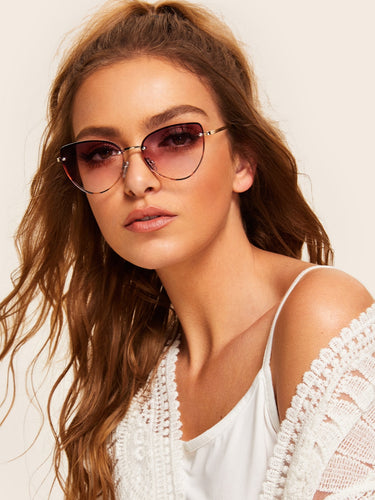 Tortoiseshell Frame Tinted Lens Sunglasses-An Eternal Summer