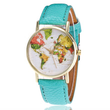 Load image into Gallery viewer, Colorful World Map Wristwatch-An Eternal Summer