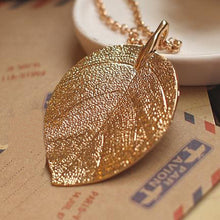 Load image into Gallery viewer, Golden Leaf Necklace-An Eternal Summer