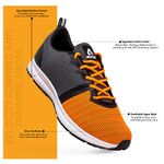 Velocity Running And Training Shoes - Orange/Dark Grey
