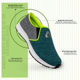 Avant Men's Bolt Slip On Training Shoe - Green/Grey