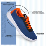 Navy Blue/ Orange