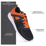 Avant Men's Sigma Running And Training Shoes - Black/Orange